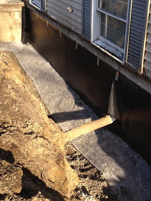 exterior wet basement repair